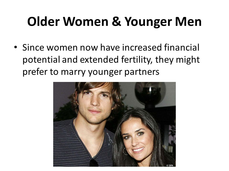 Older Women & Younger Men
