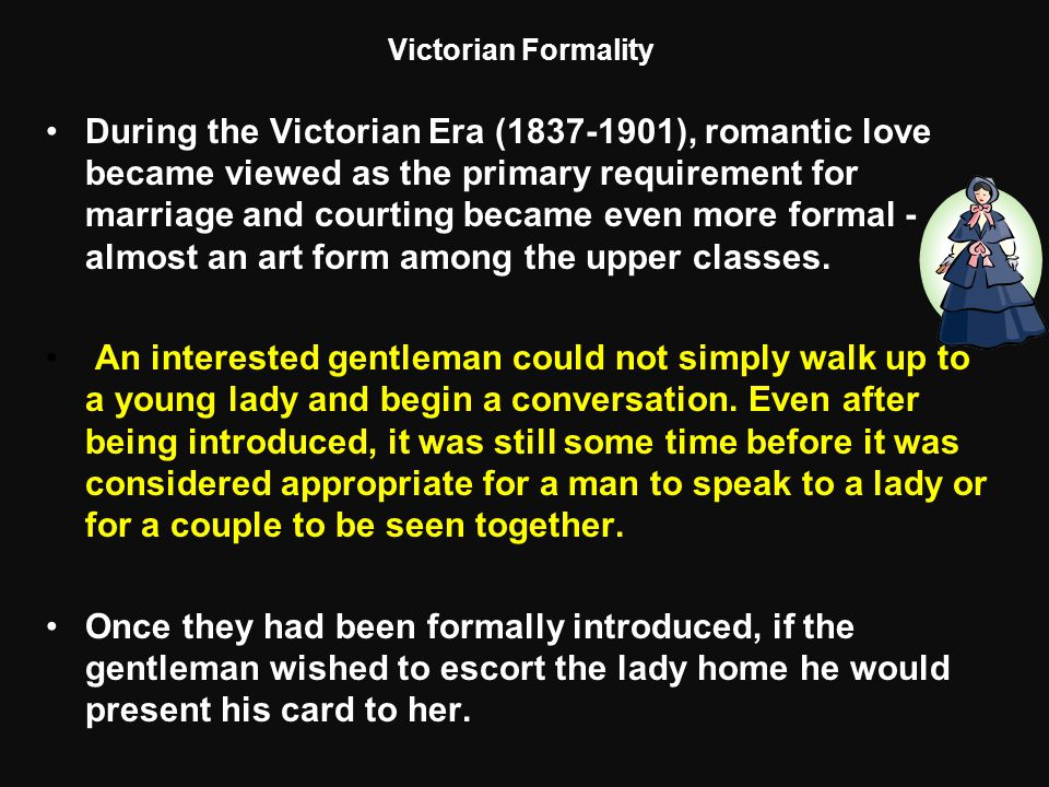 Victorian Formality