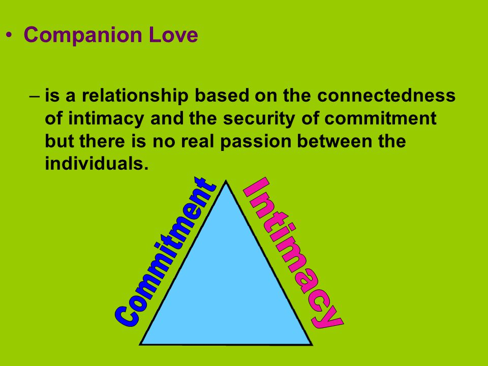 Commitment Intimacy Companion Love