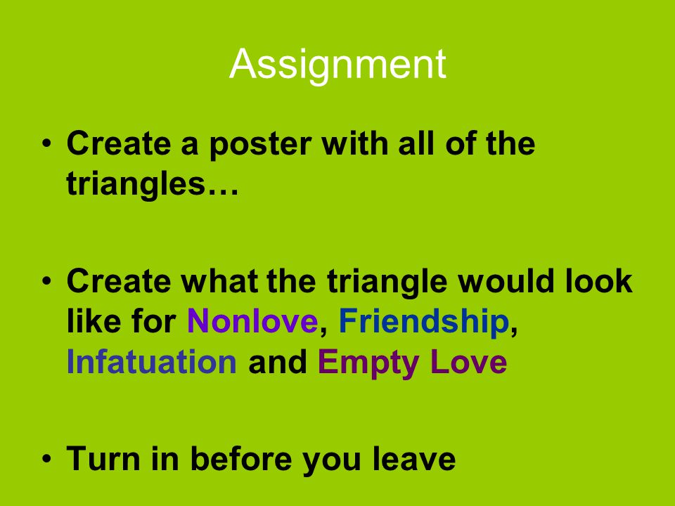 Assignment Create a poster with all of the triangles…