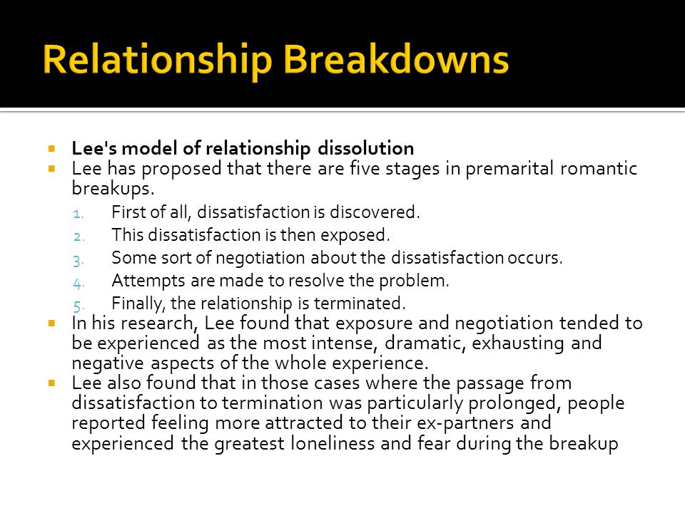 Relationship Breakdowns