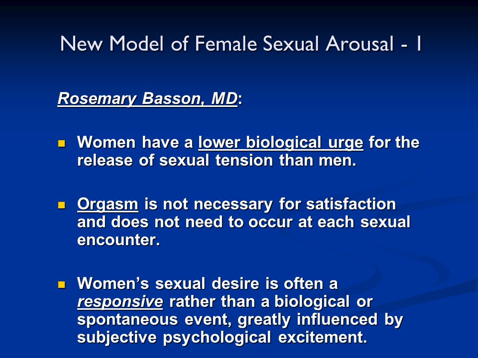 New Model of Female Sexual Arousal - 1