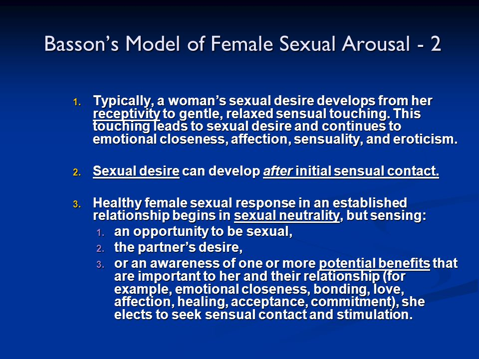 Basson's Model of Female Sexual Arousal - 2