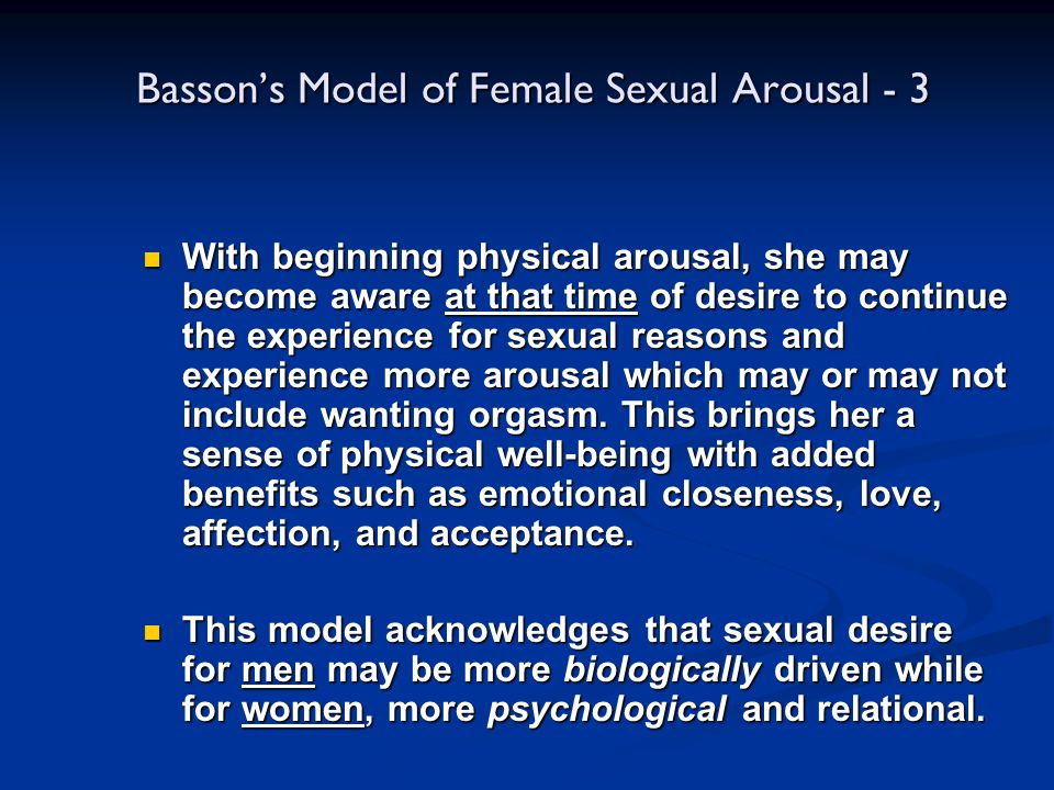 Basson's Model of Female Sexual Arousal - 3