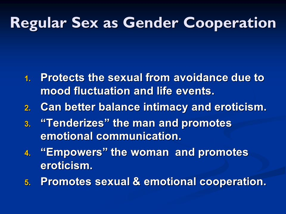 Regular Sex as Gender Cooperation
