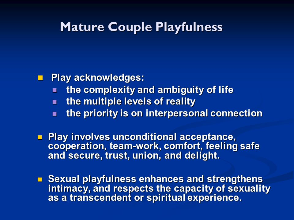 Mature Couple Playfulness