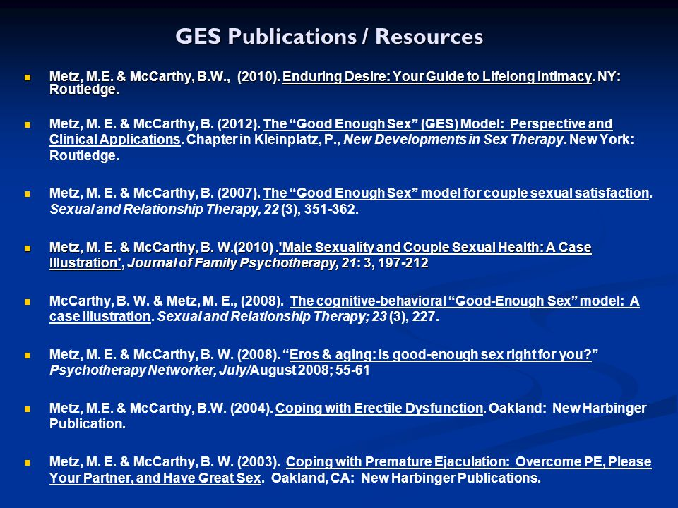 GES Publications / Resources