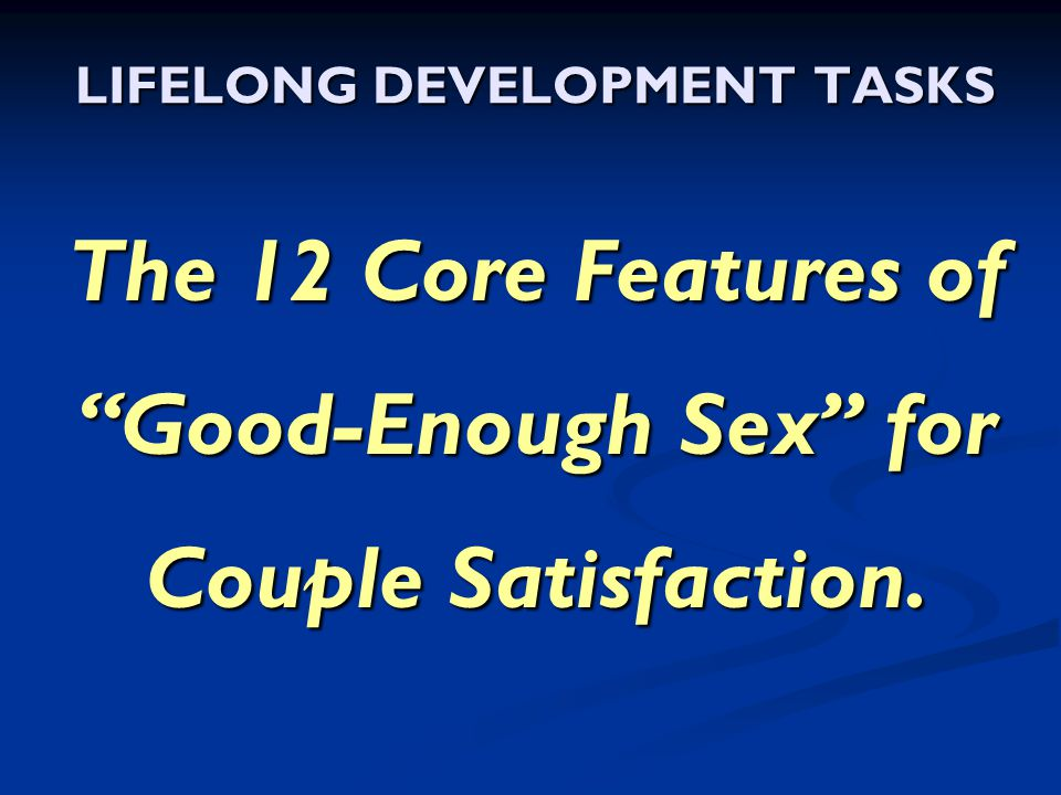 LIFELONG DEVELOPMENT TASKS