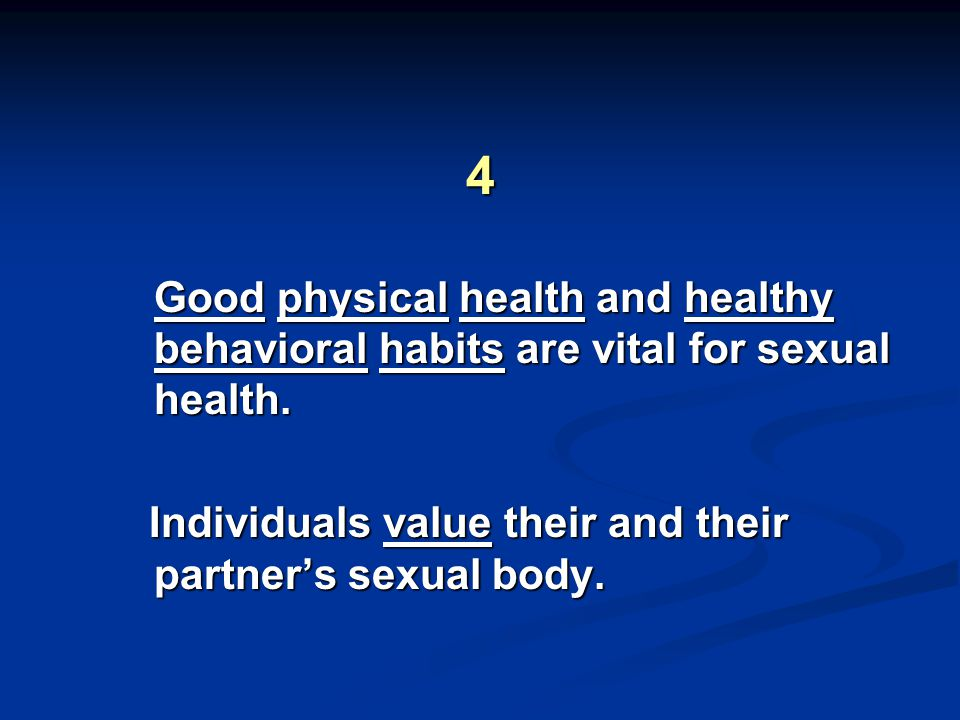 Individuals value their and their partner's sexual body.