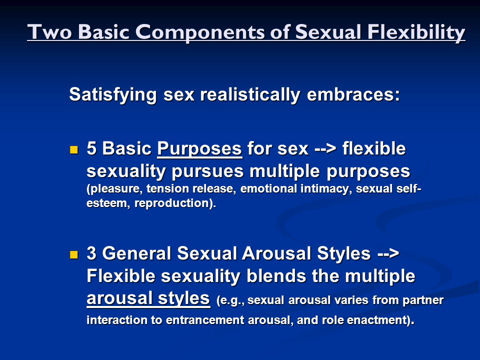 Two Basic Components of Sexual Flexibility