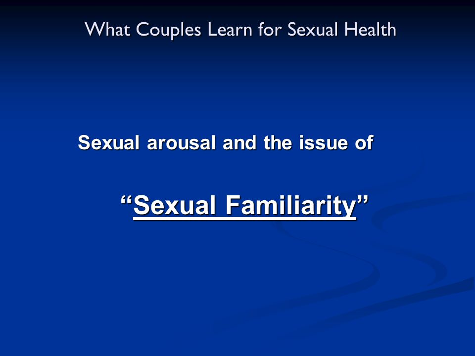 What Couples Learn for Sexual Health