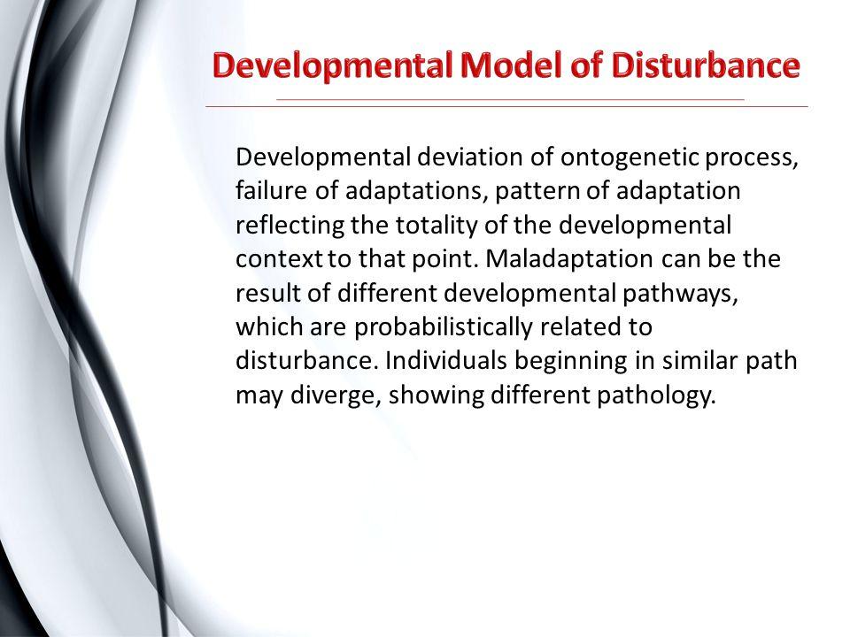 Developmental Model of Disturbance