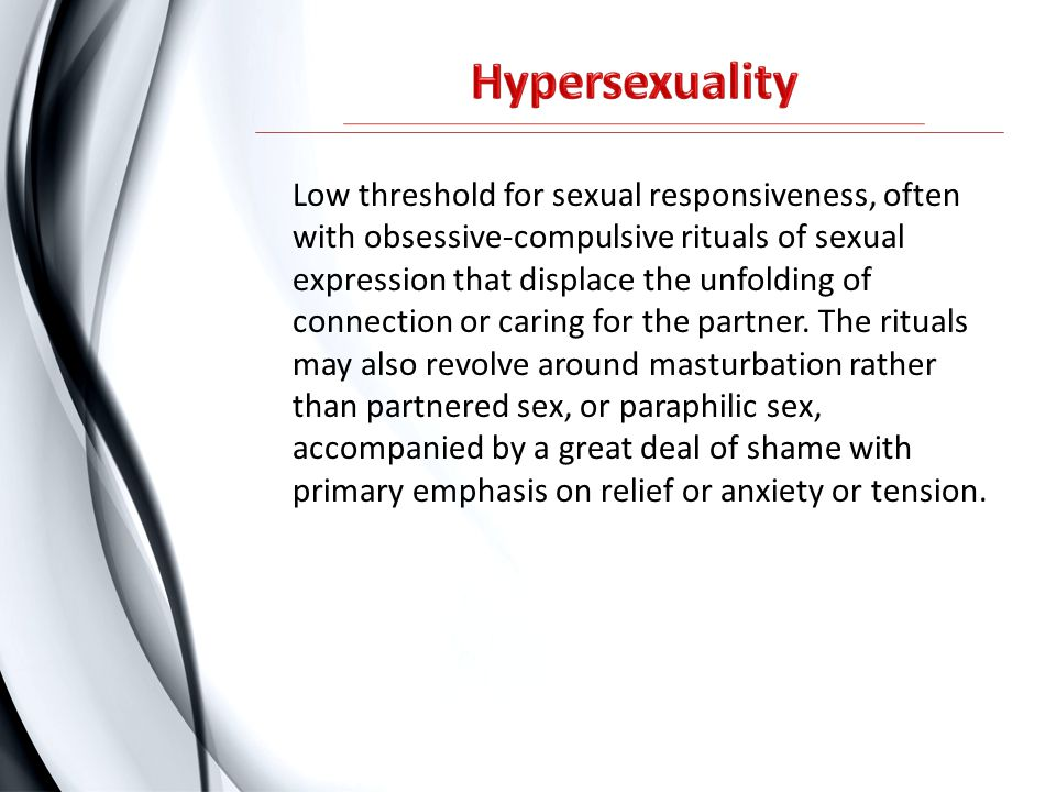Hypersexuality