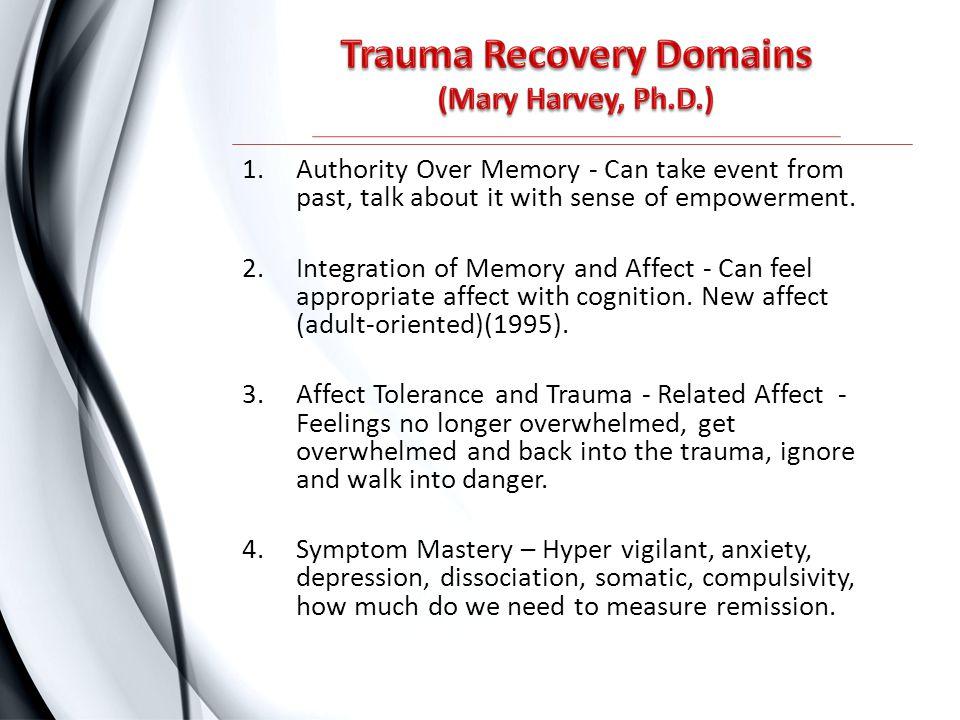 Trauma Recovery Domains (Mary Harvey, Ph.D.)