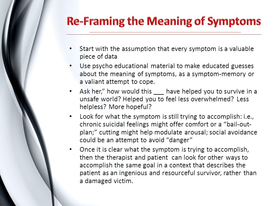 Re-Framing the Meaning of Symptoms