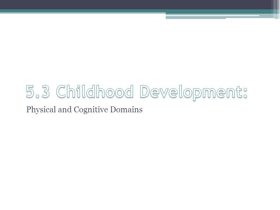 5.3 Childhood Development: