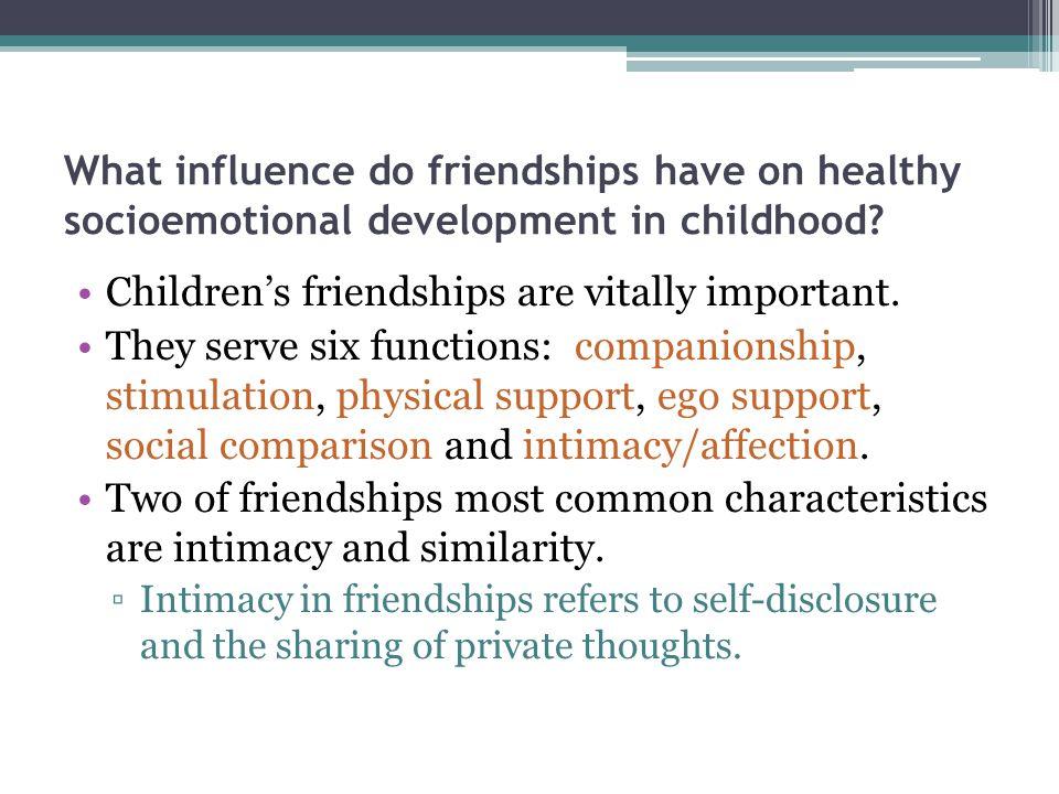 Children's friendships are vitally important.