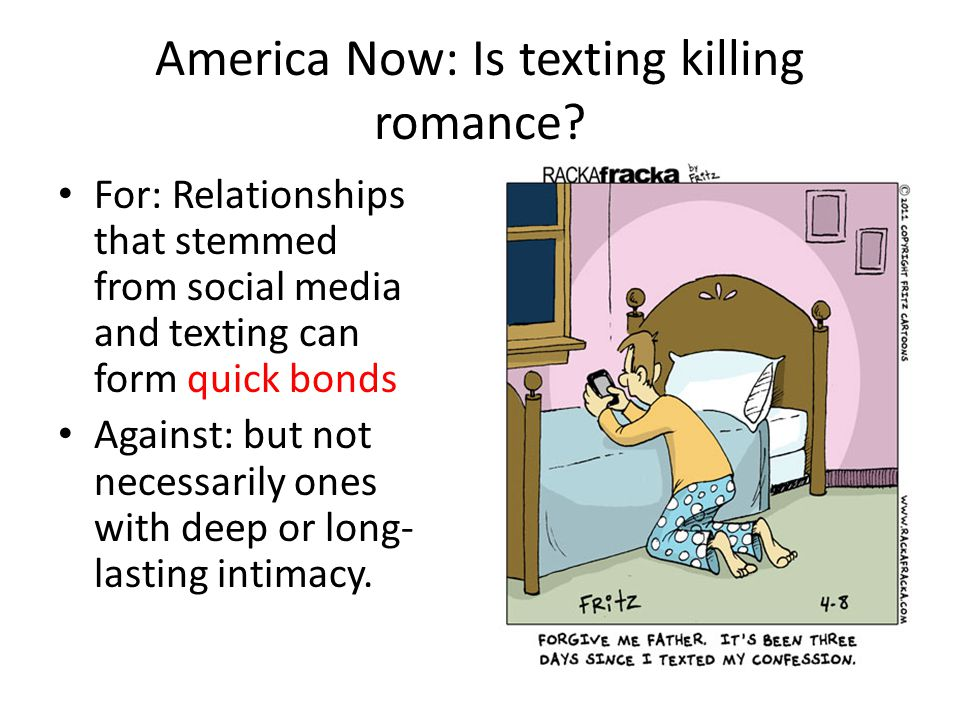 America Now: Is texting killing romance