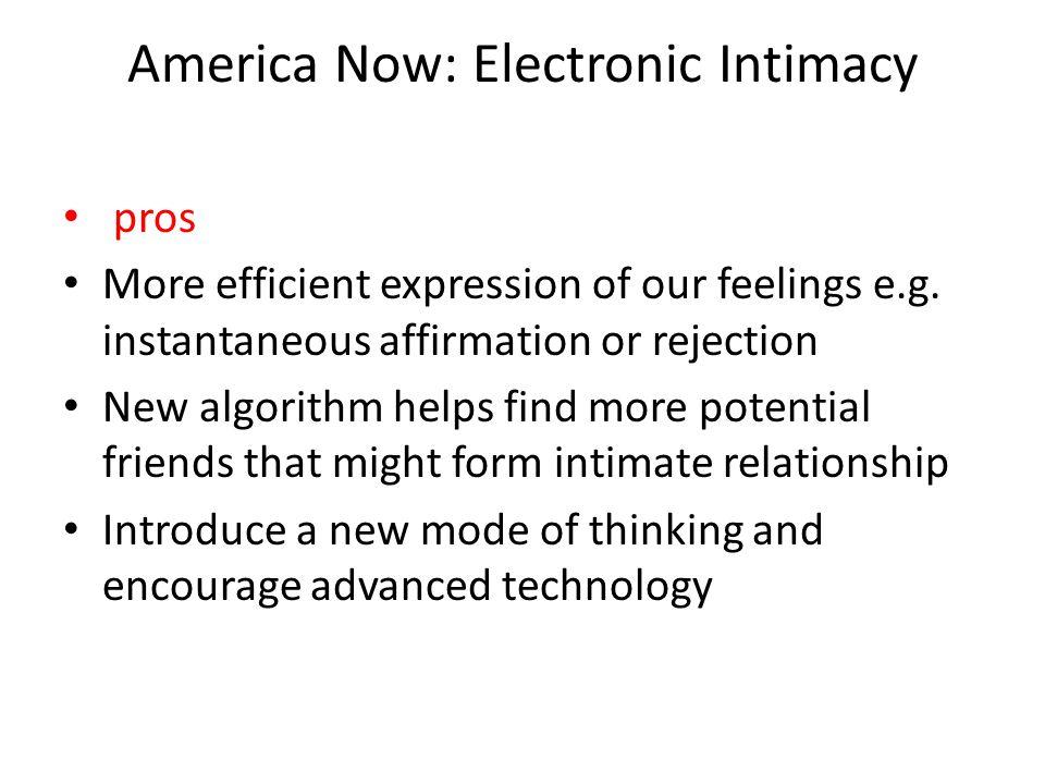 America Now: Electronic Intimacy