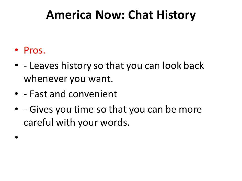 America Now: Chat History