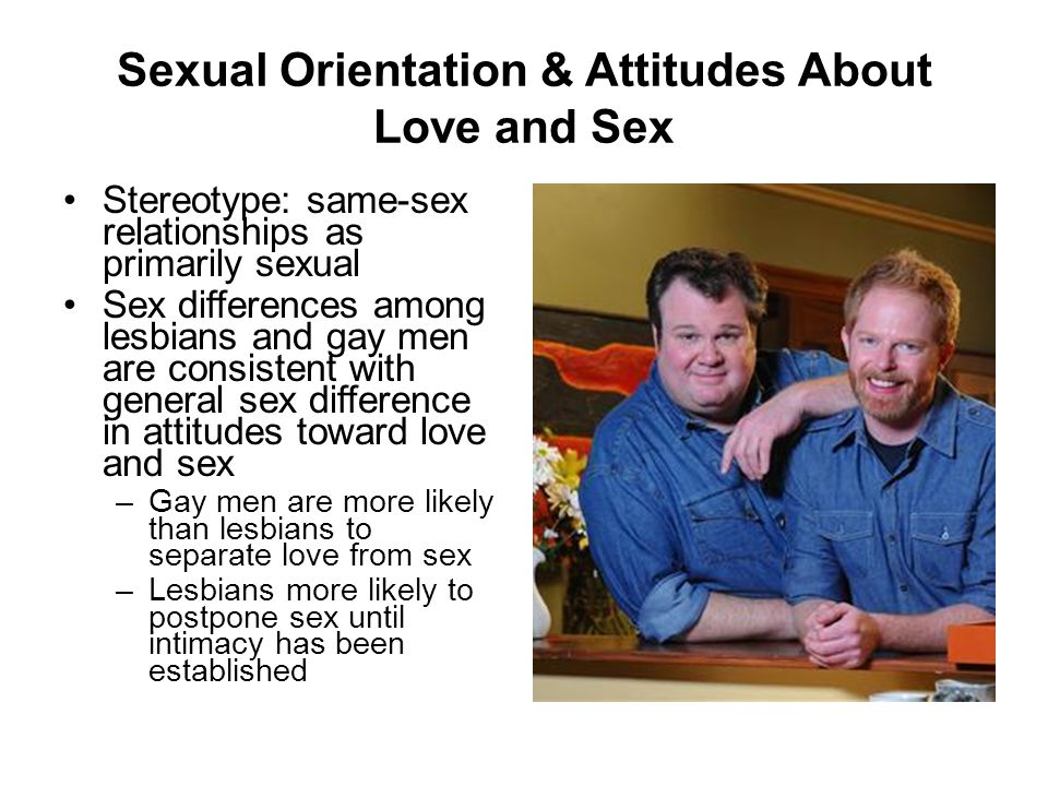 Sexual Orientation & Attitudes About Love and Sex