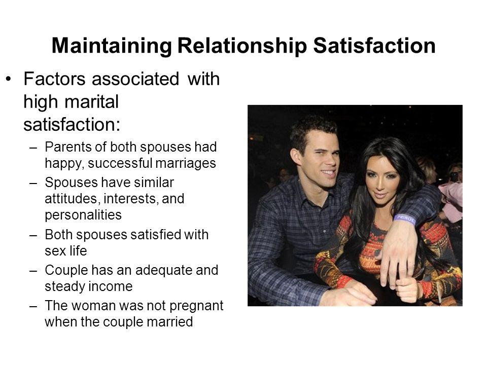 Maintaining Relationship Satisfaction