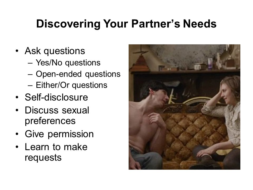Discovering Your Partner's Needs