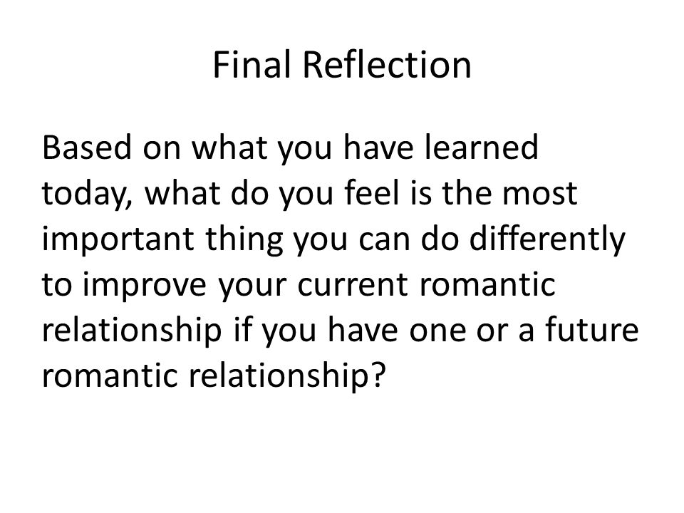 Final Reflection