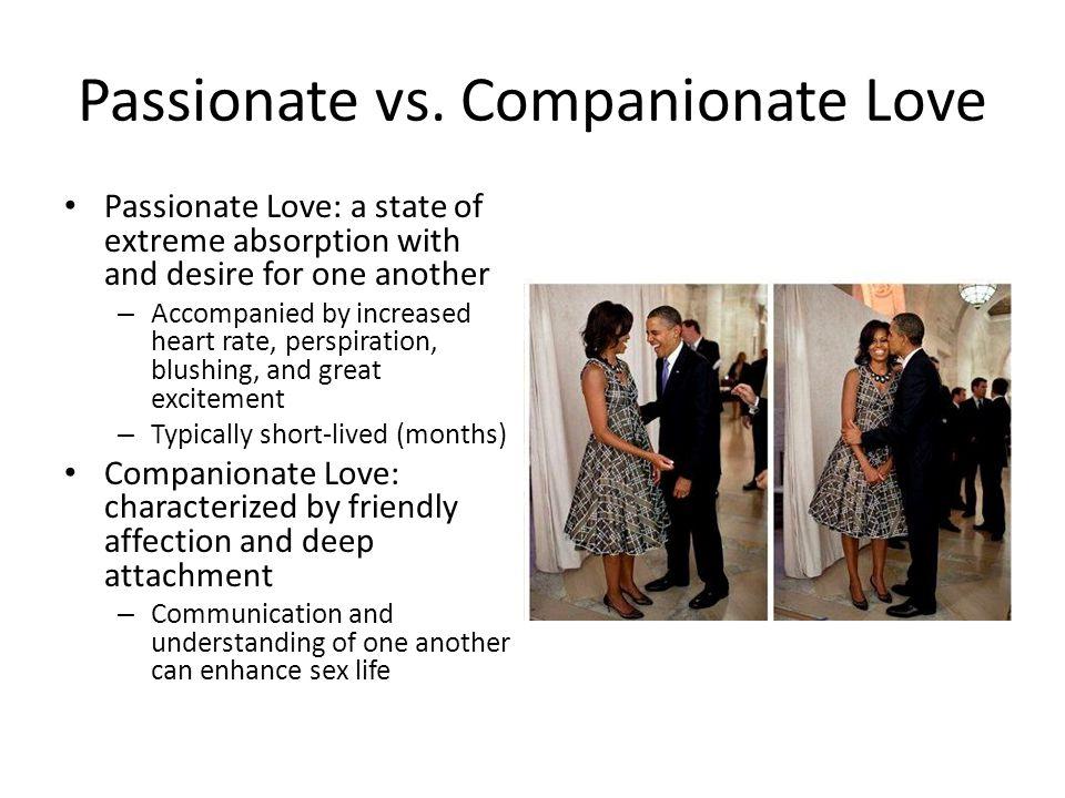 Passionate vs. Companionate Love