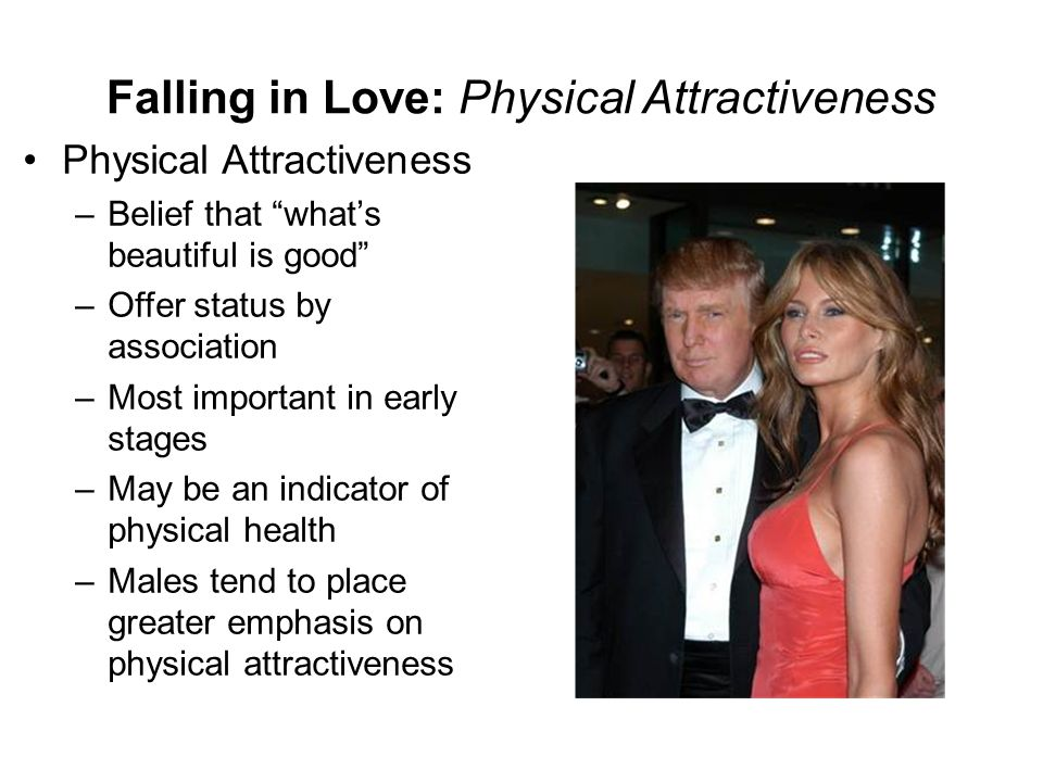 Falling in Love: Physical Attractiveness
