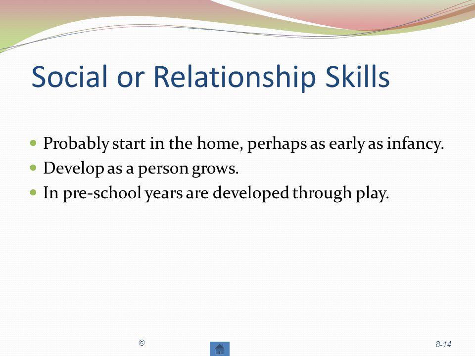 Social or Relationship Skills
