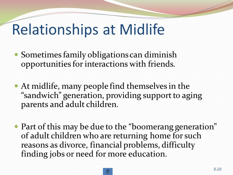 Relationships at Midlife