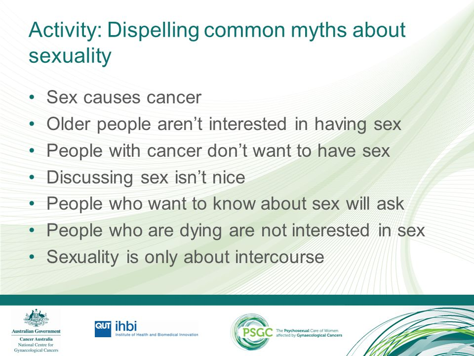 Activity: Dispelling common myths about sexuality