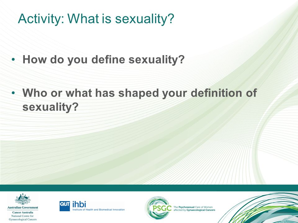Activity: What is sexuality