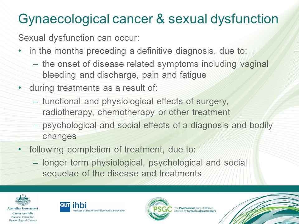 Gynaecological cancer & sexual dysfunction