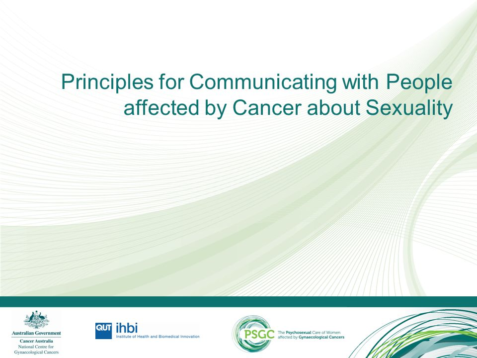 Principles for Communicating with People affected by Cancer about Sexuality