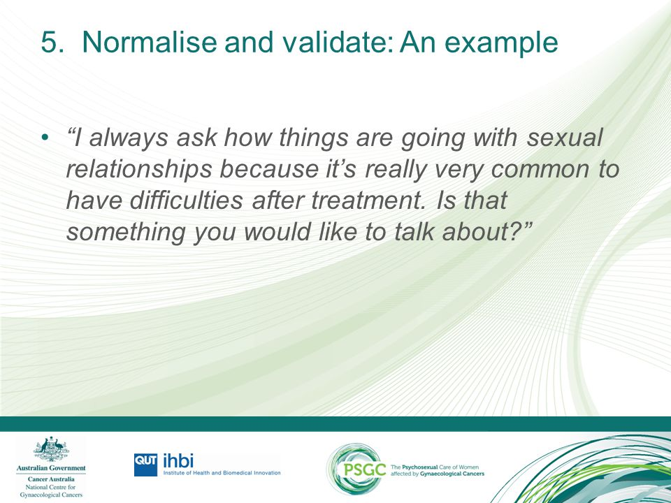 5. Normalise and validate: An example