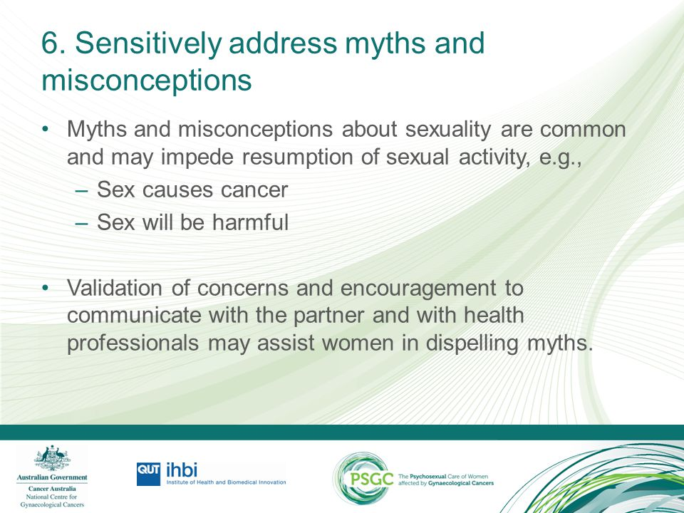 6. Sensitively address myths and misconceptions