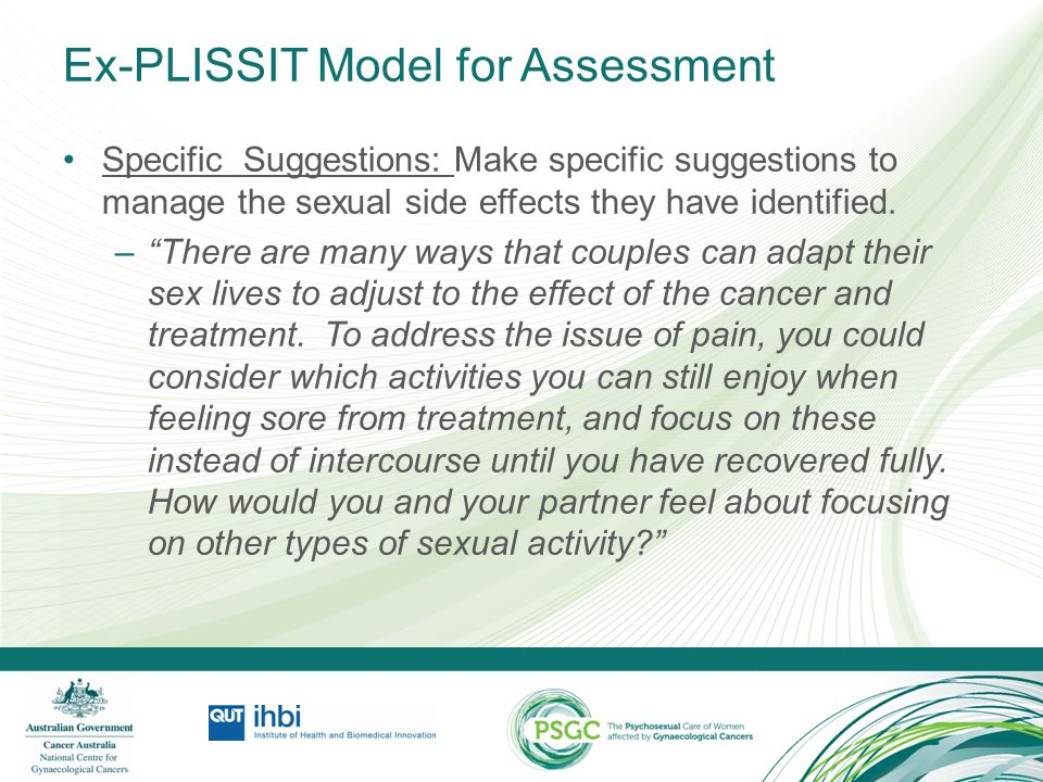 Ex-PLISSIT Model for Assessment