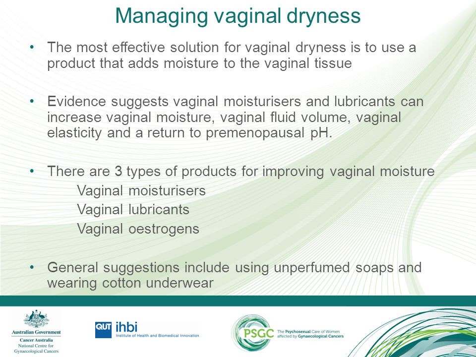 Managing vaginal dryness