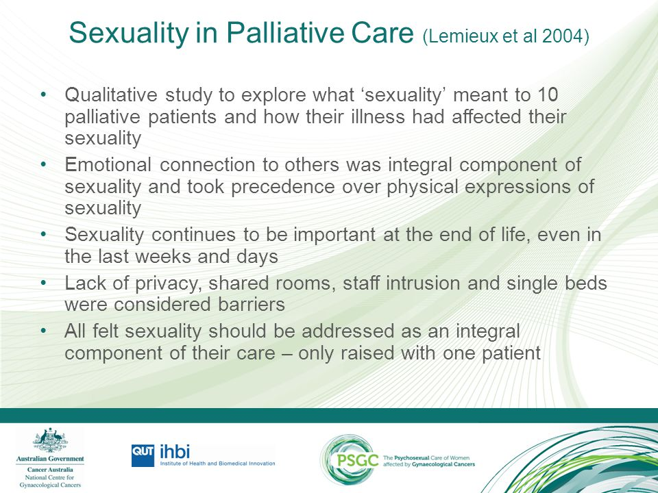 Sexuality in Palliative Care (Lemieux et al 2004)
