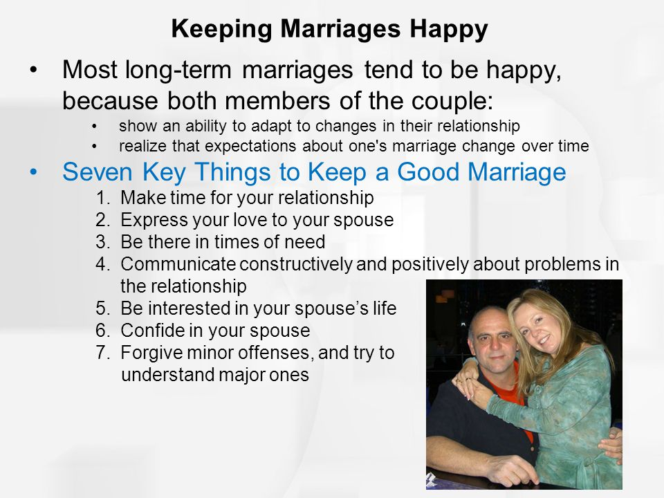 Keeping Marriages Happy