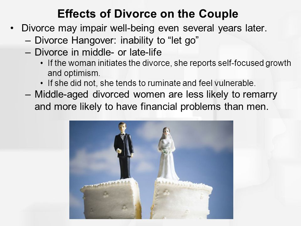 Effects of Divorce on the Couple