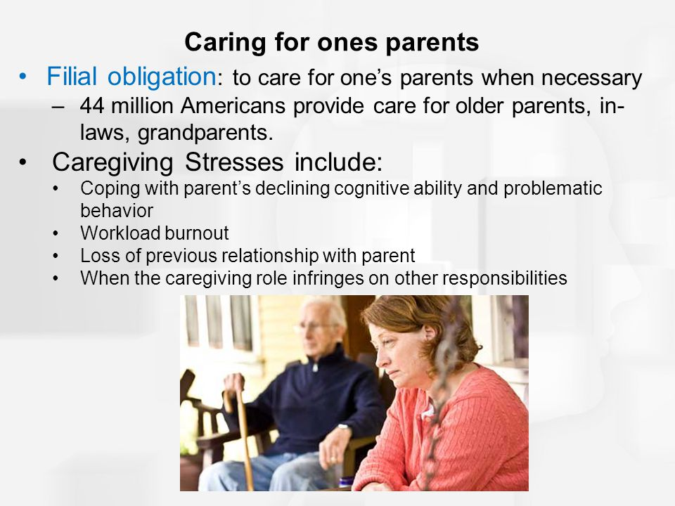 Caring for ones parents