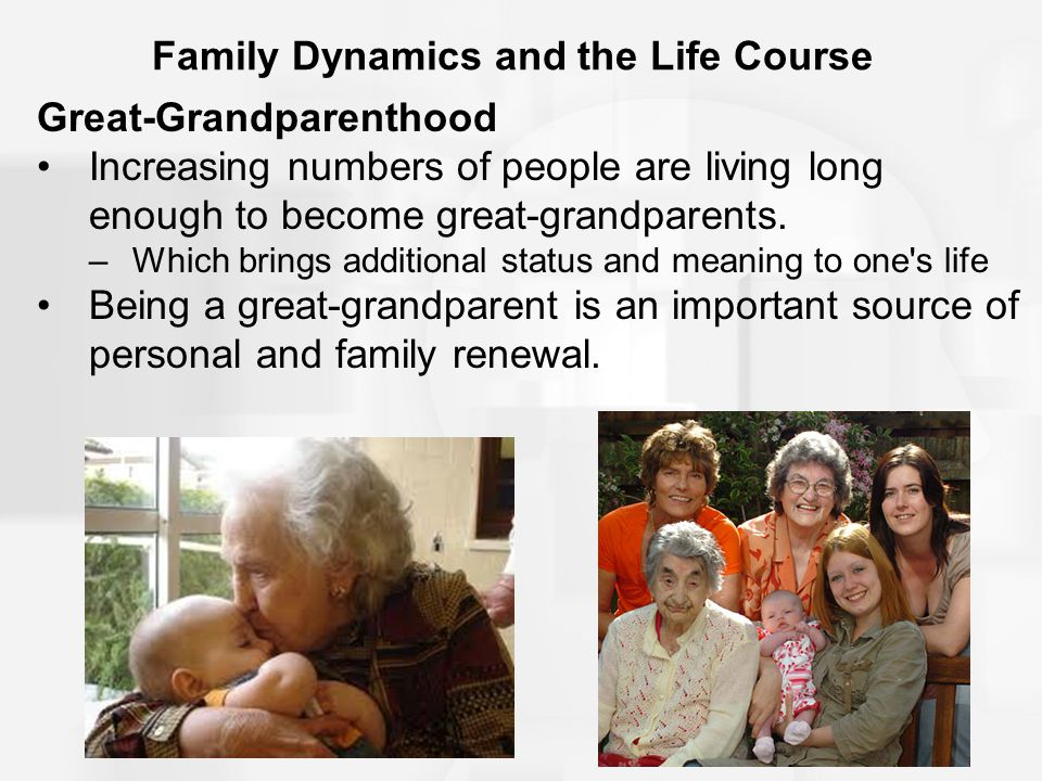 Family Dynamics and the Life Course