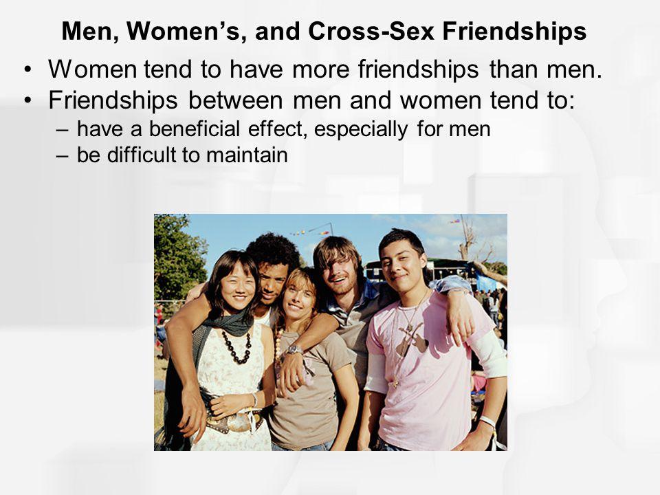 Men, Women's, and Cross-Sex Friendships