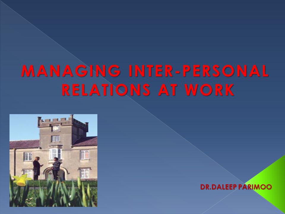 MANAGING INTER-PERSONAL