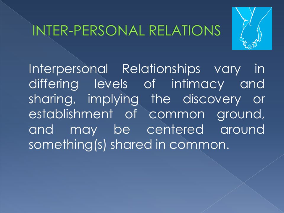 INTER-PERSONAL RELATIONS