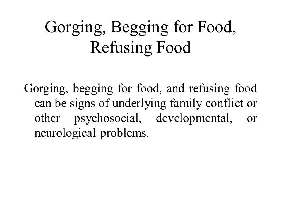 Gorging, Begging for Food, Refusing Food