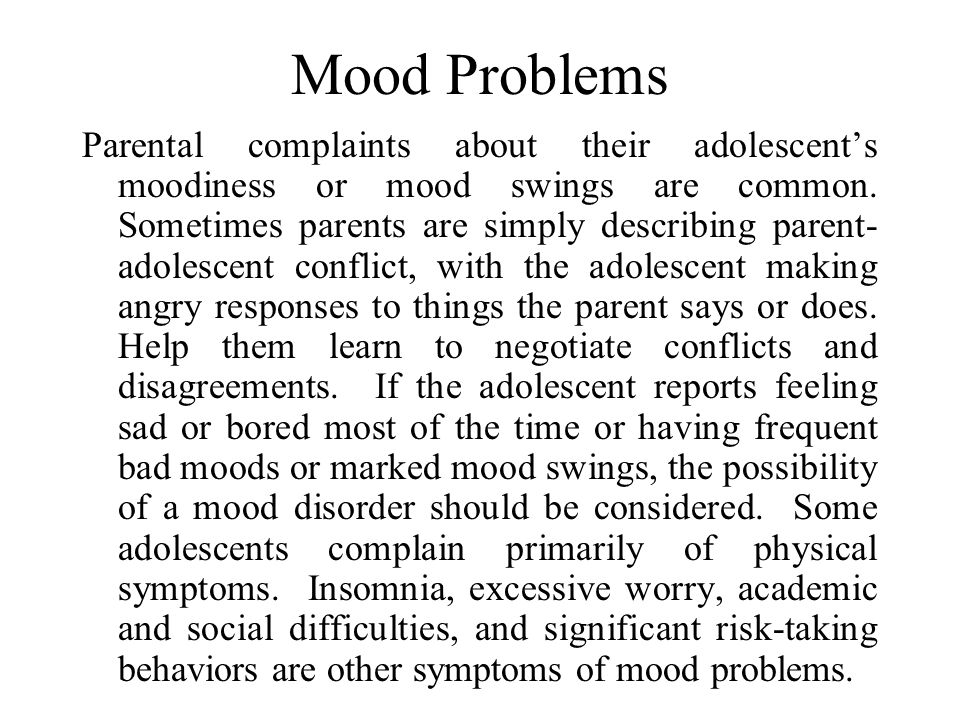 Mood Problems